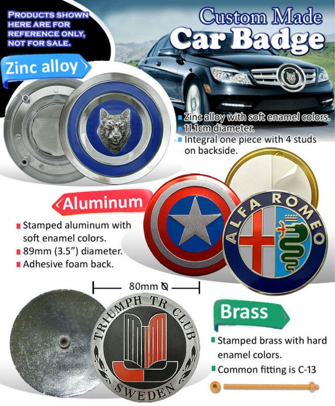 Custom Metal Car Badge/ Wholesale Luxury Car Emblem