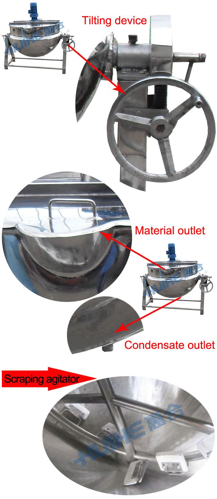 200l Large Steam Heating Jacketed Kettle/big Bioling Pot/cooking ...