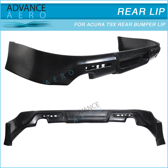 Hot Sale Body Kit For Acura Tsx Poly Urethane Black Rear