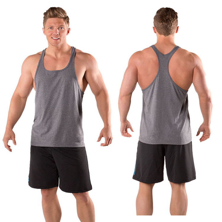 b4684f6286b41 Y Back Tank Tops For Men 100% Cotton Bodybuilding Stringer - Buy Y ...