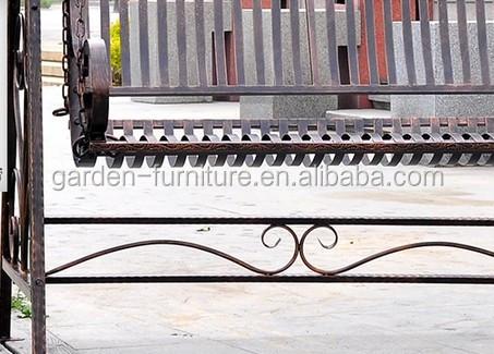 Wrought Iron Double Lover Comfortable Metal Garden Swing