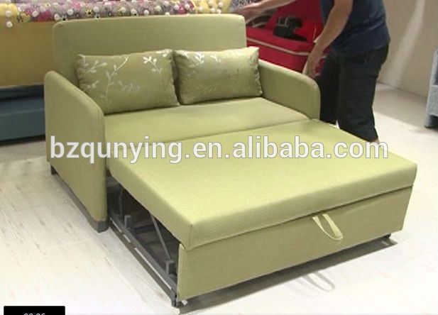 Full size fold out drawer type metal slat bed base sofa for Sofa bed base