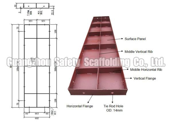 Concrete Formwork Design Steel Concrete Formwork For Wall