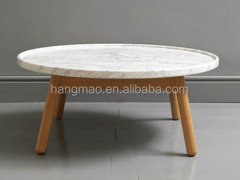 China White Round Marble Slab Table Top