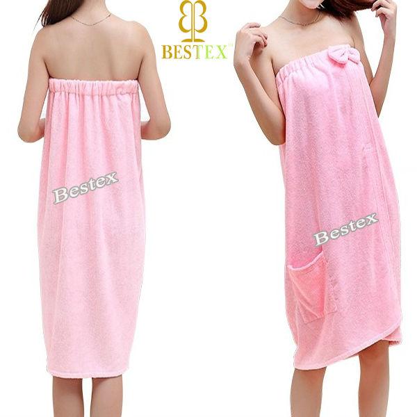 Best sexy fashion ladies women microfiber terry towel bath for Bathroom dress