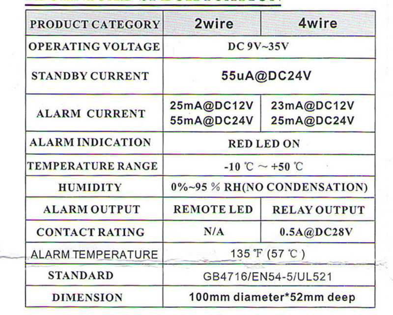 body heat sensor heat detector for alarm system buy heat