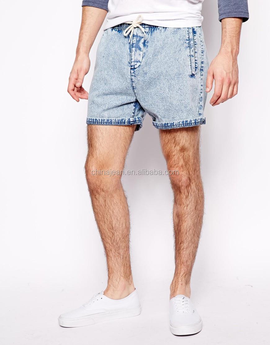2017 Fashion Denim Short Pants Jeans Men Slim Fit Skinny Trousers