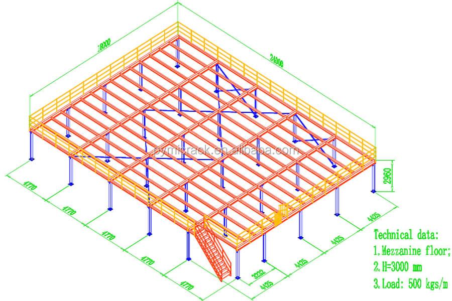 Steel mezzanine floor steel structure mezzanine rack buy for Mezzanine floor pdf