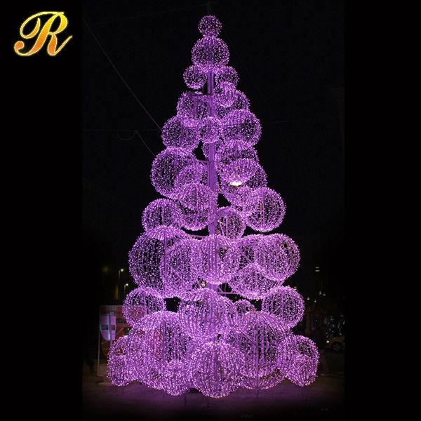 Outdoor Lighted Christmas Tree Display Stand Fake Christmas Tree ...
