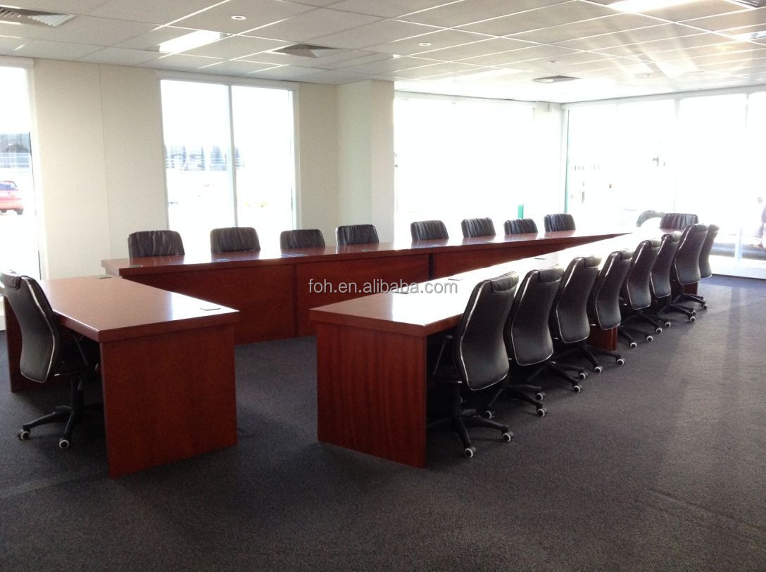 Wood Veneer V Shaped Conference Table Fohvc Buy Conference - Large wooden conference table