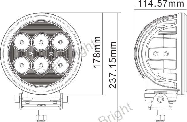 7 60w Cree Led Work Light Driving Suv Atv 4wd 4x4 Spot