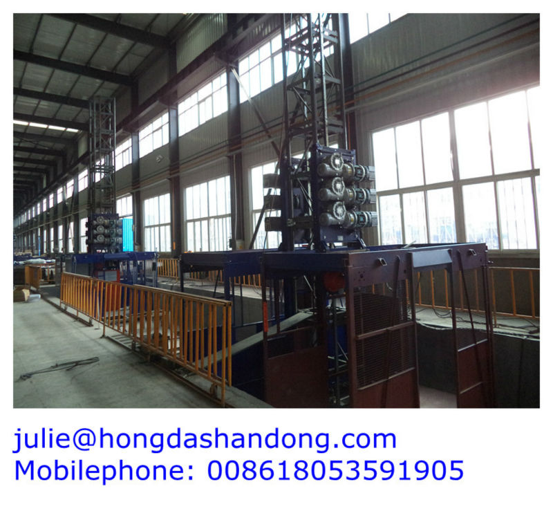 Shandong Hongda TIELISHI SCD200 200 Double Cages Building Construction Lift
