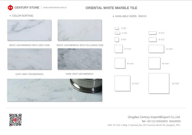 china oriental white statuario marble floor tiles standard