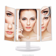 Adjustable 21 pcs led lighted illuminated makeup mirror