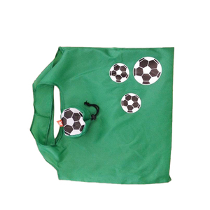 Custom Football Folding Polyester Shopping Tote Bag