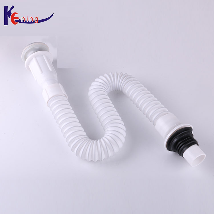 Bathtub drain cleaning flexible pipe/bathroom flexible drain plastic pipe for sink drain hose