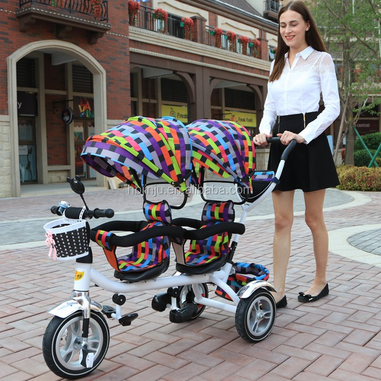 New design Baby twin tricycle/Baby stroller for twins/baby twin carrier tricycle