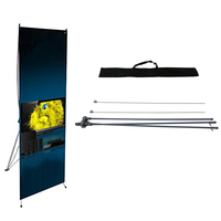 Collapsible Exhibition X Advertising Banner Stand