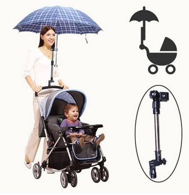 Высокое качество Кронштейн зонтик в коляску, поддержка зонтик, фирма и безопасно регулируемая длина, доступна для большинства трубы