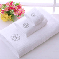 P23 White 100% Cotton Terry Luxury Hotel Egyptian Cotton Towels with Embroidered Logo