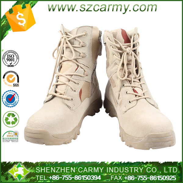 Men safety genuine suede leather tactical military boots
