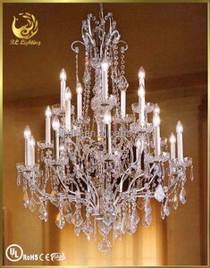 Retro type large crystal chandeliers for hotel
