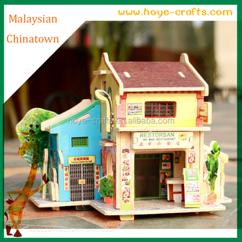 charm buildings jigsaw wooden 3d puzzles best christmas gifts for adults children