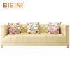 BISINI Home Furniture Sofa Set Post-Modern American Style Genuine Leather Luxury Living Room Furniture BF08-10002