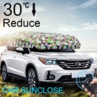 SUNCLOSE Factory motor driven car mirror cover flag car sun shades for windshield car front grill cover