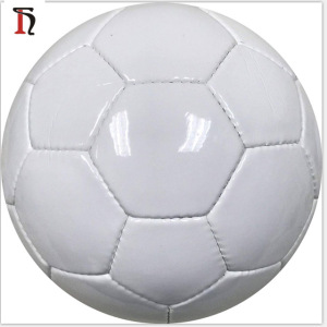 balones de futbol blancos wholesale 1.8mm PVC plain surface machine stitched wholesale promotional soccer ball size 5