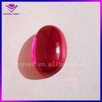 Cabochon Flat Back Semi Precious Stone Gems Oval Cut Corundum 5 Ruby Gemstone