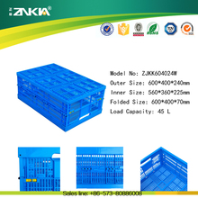 plastic material mesh straight wall container for fruits and vegetable