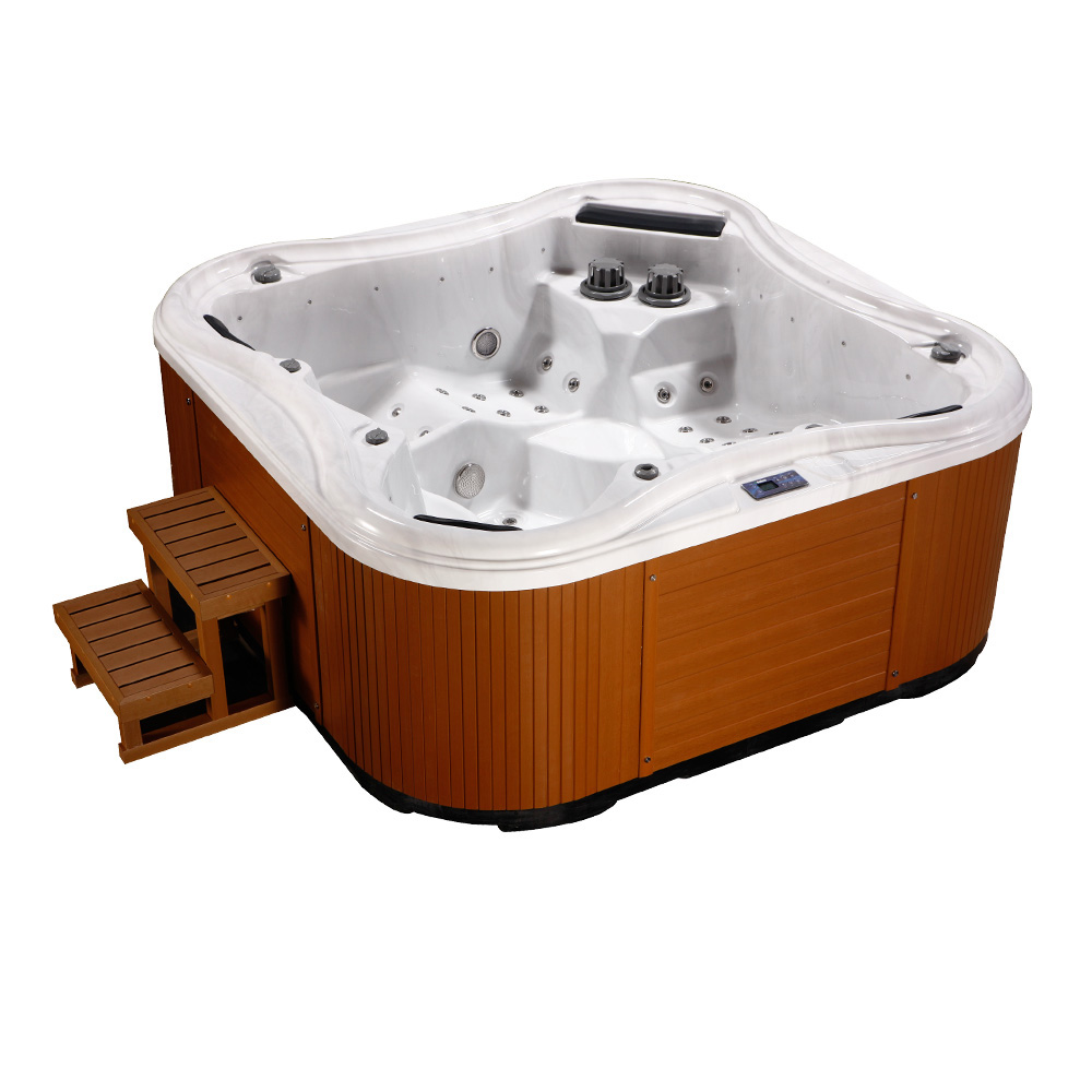 Sex Mini Outdoor Hot Tub Balboa Spa With Two Loungers