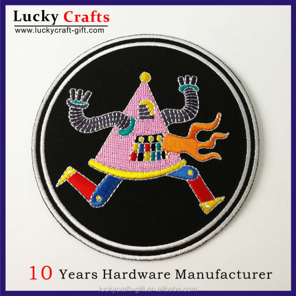 Factory wholesale cheap custom woven embroidered patches