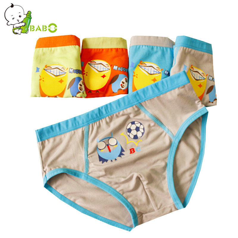 BRNAD 5PCS summer style boy baby kids wear children panties Cartoon bird animal modal Boxer Underwear panties for boy P-26