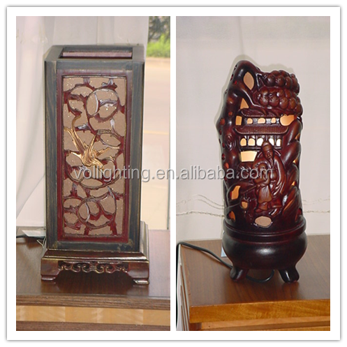 Chinese Style Decorative Lighting Wooden Table Lamp