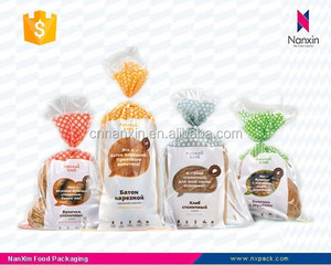 plastic color printing bread packaging bag