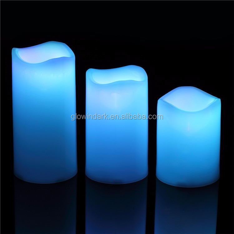 christmas wholesale Illumination moving wick candles,paraffin wax led candle light with vanilla scents