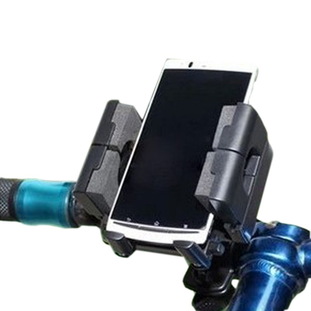 ezyoutdoor Bicycle Cell Phone GPS Flashlight Head Front Light smartphone Holder Cradle Handlebar Mount When Biking or with Your Car,Iphone Apple Or Galaxy for iPhone 4/4s/5/5s/5c/6