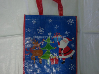 high quality reusable christmas shopping bag