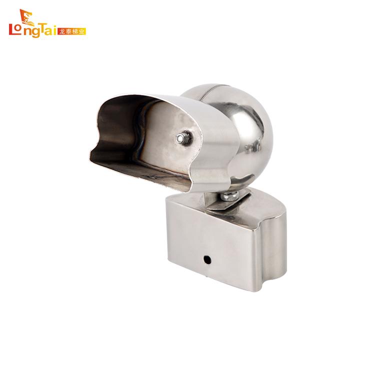 Professionele ontwerp pvc leuning pivotable connector montage