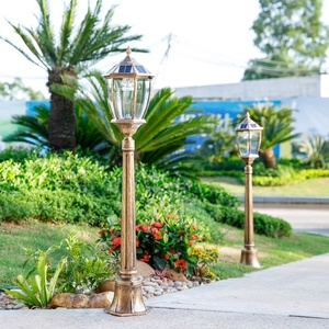 Outdoor Aluminum Ip55 Post Lighting Decorative Bollard Lawn Lamp 2w Garden Solar Led Landscape Light