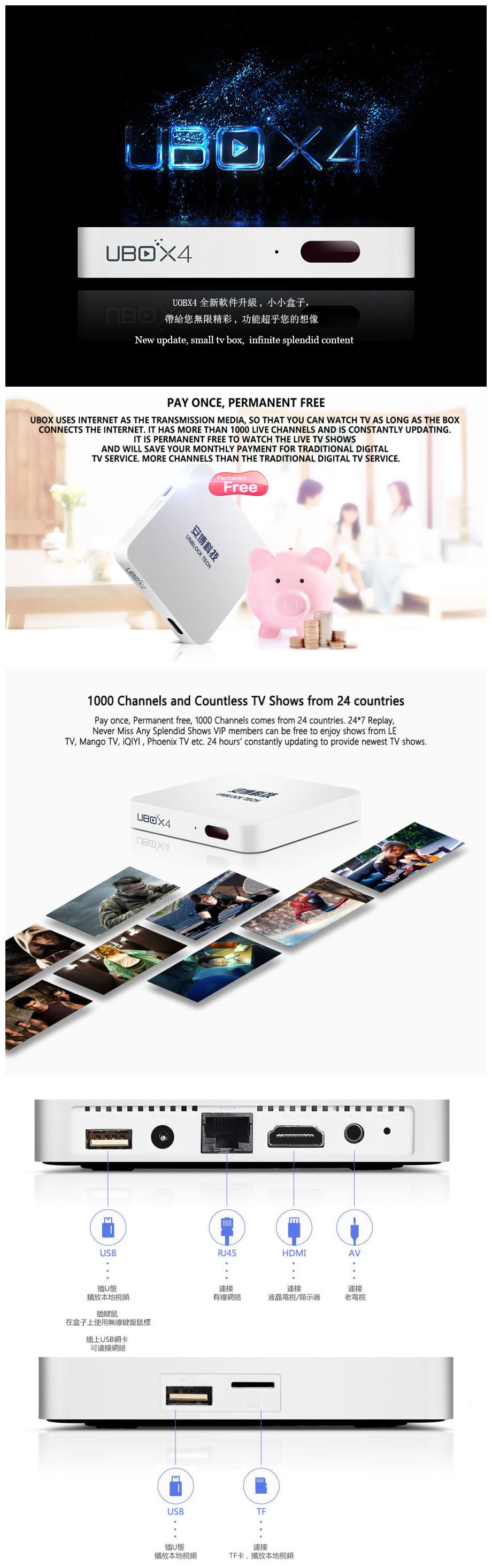 Desbloquear Ubox Gen 4 Pro Bt Ubox4 Inteligente Caixa De Tv