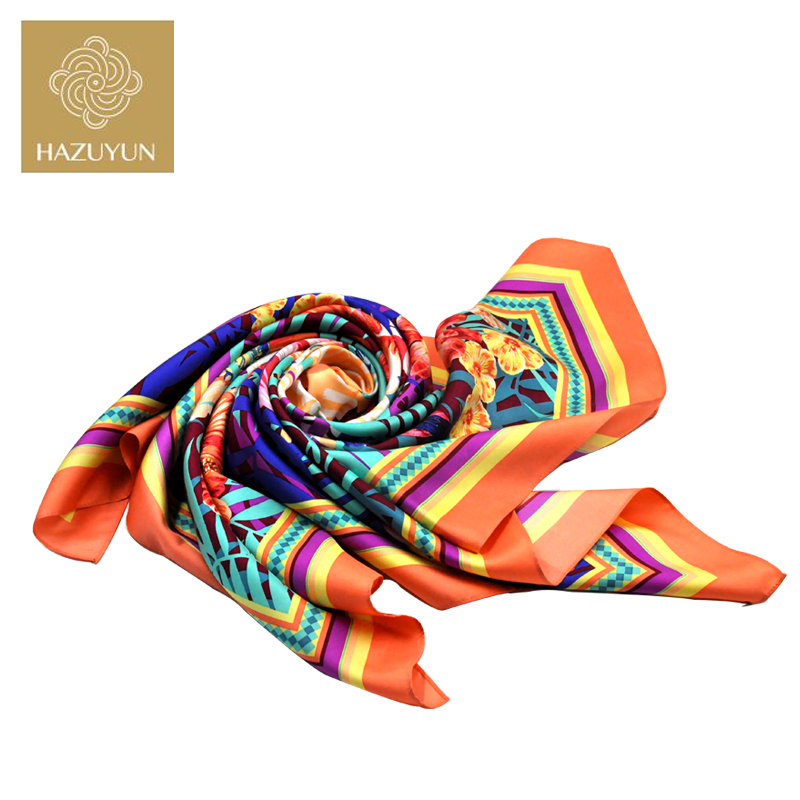 Hot Selling Fashion Elegent Women Square Silk Scarf Turkey Hijab