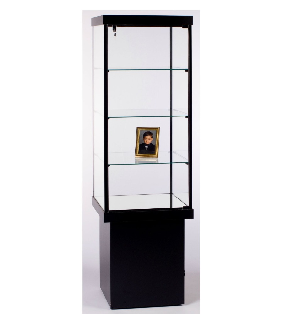 display cabinet Square Tower Case black frame Rectangular Wall Case