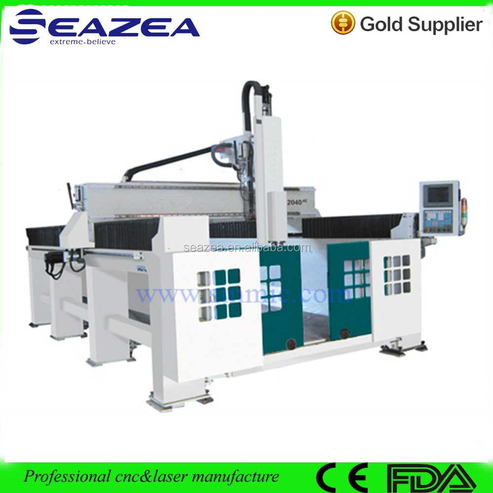 EPS 4 axis 3d carving cnc router/cnc cutting machine for EPS foam wood statue sculpture