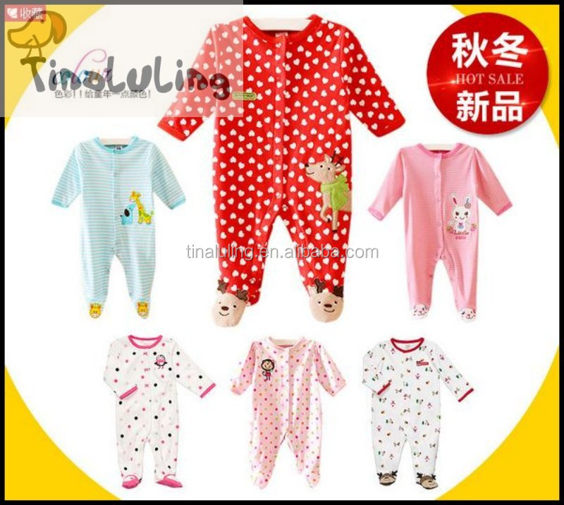 wholesale new animal-footed-pajamas,infant baby sleepwear cute winter pajamas