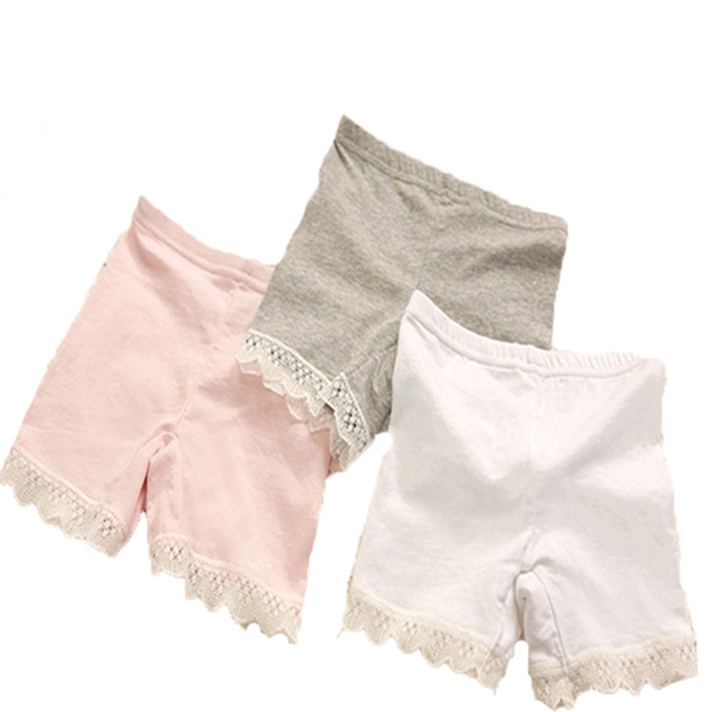 Retail&Wholesale Summer baby girls cotton shorts lace border  kids short pant Leggings fit for 2-10years