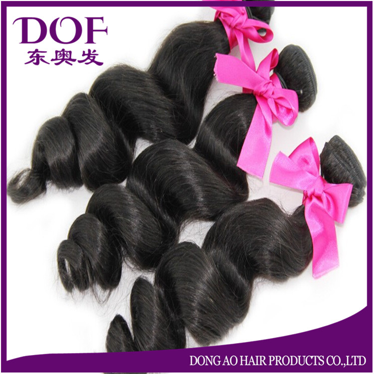 Top quality hand tied weft double drawn russian remy hair extension 22 inch natural color peruvian hair