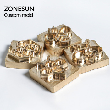 ZONESUN Customize league DIY Logo gift Hot Bee Brass Personalized Mold heating on wood leather